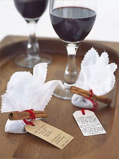 We found this rather fabulous #Christmas gift idea, creating your own #mulled wine sachets. You just have to remember to actually give them as presents and not drink them all yourself #tricky!