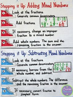 Fraction Anchor Charts (includes a freebie!)