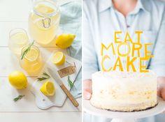 """Inspiration couleur le jaune citron Dans la cuisine. En d""""ecoration de gâteau, et faire une jolie citronnade."""