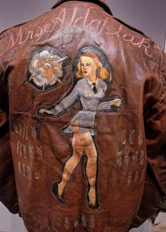 A-2 Bomber Jacket Art (WWII) - MRS ALDAFLAK via RetroWaste.com