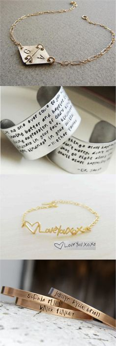 Carry your love around with you at all times with these personalized bracelets. Great gift for someone near & dear! | Made on Hatch.co by independent designers and professional jewelry makers.