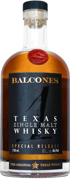 A bottle of Balcones Texas Single Malt Whisky #giftsforhim