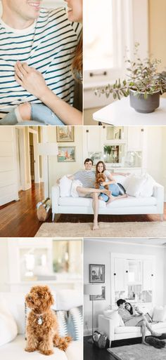 Little Rock At-Home Engagement Session - Style Me Pretty