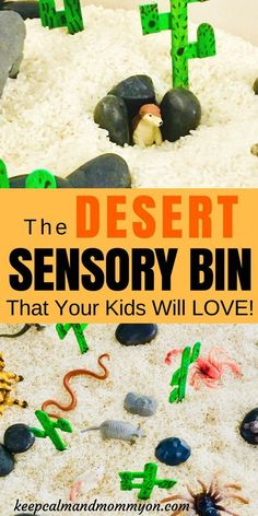 – Keep Calm And Mommy On The Desert Sensory Bin That Your Kids Will Love! Sensory Bin Ideas, Sensory Activities For Kids, Fine Motor Skills For Toddlers, Sensory Activities For Preschoolers Sensory Activities For Preschoolers, Motor Activities, Classroom Activities, Preschool Activities, Reptiles Preschool, Science Classroom, Classroom Ideas, Animal Activities For Kids, Wild West Activities