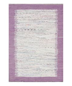 This funky rug adds warmth and a splash of color to any floor. It features as lustrous shimmer and a soft feel that will help tie a room's interior décor together.5' x 8'Rug thickness: 0.75''100% cottonImported