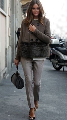 Modern Style Lessons Every Lady Can Learn From Olivia Palermo - - Fur Fashion, Fashion Outfits, Womens Fashion, Fashion Trends, Milan Fashion, Fall Winter Outfits, Autumn Winter Fashion, Fur Vest Outfits, Estilo Cool