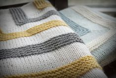 High Hopes Baby Blanket Knitting Pattern by StackedWoolens on Etsy Crochet For Beginners Blanket, Crochet Blanket Patterns, Baby Knitting Patterns, Small Blankets, Knitted Blankets, Baby Blankets, Sport Weight Yarn, High Hopes, Garter Stitch