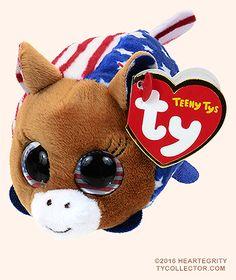 3aea813109a Vote (Democrat) - donkey - Teeny Tys Ty Plush