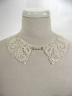 col en dentelle Passementerie, Ivoire, Couture, Inspiration, Jewelry, Fashion, Lace Collar, Ribbons, Biblical Inspiration
