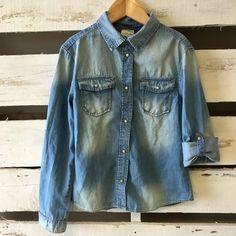 Zara Kids Casual Collection Denim Button Up Shirt