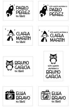 Etiquetas imprimibles etiquetas para tiles escolares - Ex libris personalizados ...
