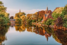Minnewaker lake, Bruges, Belgium -
