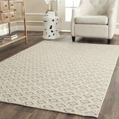 Diamond Taupe Sisal Wool Loomed Rug @Zinc_Door