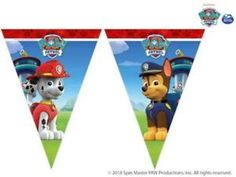 Procos Wimpelkette PAW Patrol - Ready For Action 230 x 25 cm online kaufen Paw Patrol Marshall, Paw Patrol Birthday Theme, Bear Birthday, Flag Banners, Bunting Banner, Paw Patrol Party Decorations, Paw Patrol Birthday Invitations, Cumple Paw Patrol, Fiesta Mickey Mouse