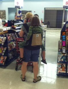 Hey Mom Time To Pitch the Baby Backpack Carrier! - Funny Pictures at Walmart