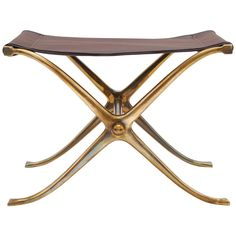 1950s Bronze Stool Tabouret by Vanderborght Frères | From a unique collection of antique and modern stools at https://www.1stdibs.com/furniture/seating/stools/