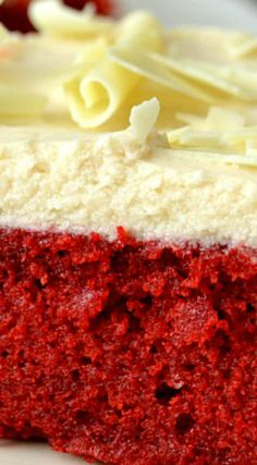 Best Red Velvet Cake with Boiled Frosting ~ Moist, soft and fluffy with a vanilla cooked frosting that's traditional to Southern red velvet cakes, this cake is a must-make!