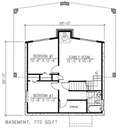 158-1255: Floor Plan Basement