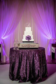 Purple Hollywood Glam Atlanta Wedding At 200 Peachtree
