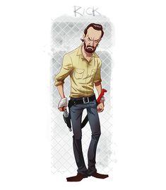 Personajes de Walking Dead como caricaturas – Nerdgasmo