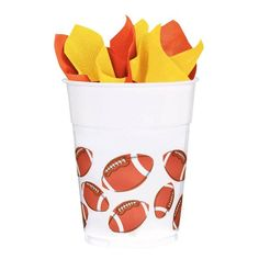 Check out Football 14oz. Plastic Favor Cup (Each) - Low Priced Individual Supplies from Wholesale Party Supplies