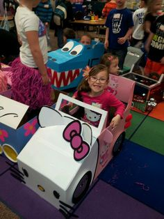 Hello Kitty Cardboard car
