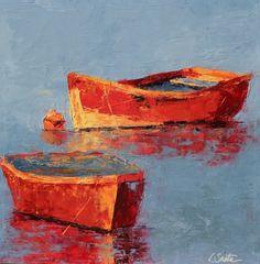 Frente y Atrás pintura, original del artista Leslie Saeta | DailyPainters.com