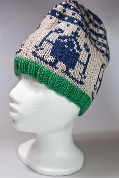 Skiing space invader hat by ingahelene, via Flickr