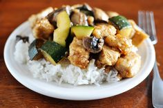 Chicken with Mushrooms and Zucchini  | Mel's Kitchen Cafe