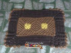 Tapete simples em crochê com os fios Têxtil São João