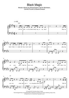 Preview Little Mix Black Magic Pop sheet music, notes and chords for Piano, Vocal & Guitar (Right-Hand Melody), SKU: 121773