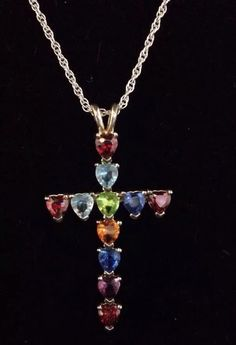 """Lenox """"Jewels of Life"""" Sterling cross and 20"""" chain.  $25 #freeshipping"""