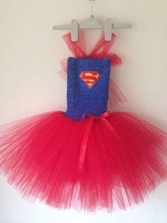 Fabulous Handmade Girls Supergirl Tutu Dress age 3-5 years