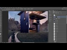 Advanced Post Production Techniques in Photoshop : Glen Lake House