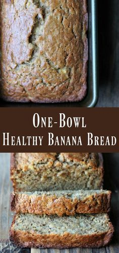 One-bowl Healthy Banana Bread Recipe. This delicious banana bread recipe can be made-ahead of time on meal prep day for a healthy breakfast or snack all week.