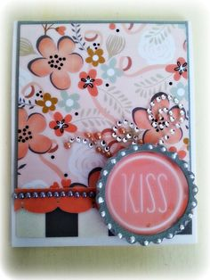 """New for Spring. """"Kiss"""" https://www.etsy.com/ca/listing/224436071/greeting-card-perfect-for-any-ocassion?ref=related-0"""
