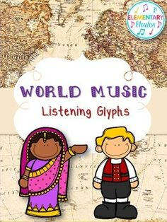 World Music Listening Glyphs - featuring 10 different countries with varying styles of music. Use these as a single lesson or as part of a unit - so many options!