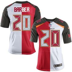 22583f552d6 (Tampa Bay Buccaneers Ronde Barber Elite Nike Men's Team/Road Two Tone  Jersey) NFL #20