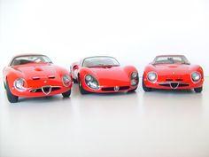 Alfa Romeo TZ2, T33 Stradale , & TZ2 Zagato