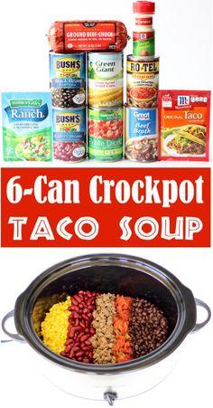 Taco Soup Recipe Easy Crock Pot, Crock Pot Tacos, Crockpot Dishes, Easy Soup Recipes, Crock Pot Cooking, Crockpot Recipes, Quick And Easy Taco Soup Recipe, Recipes Dinner, Crock Pot Beef
