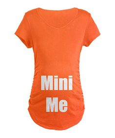Take a look at this Coral Mini Me Maternity Tee - Women by CafePress on #zulily today!
