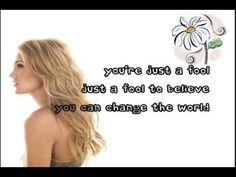 a fool to believe i can change the past...    [Carrie Underwood - Change]
