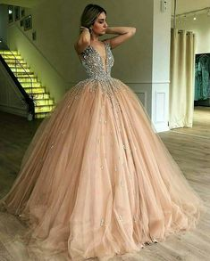 Quinceanera Dresses 2020 Blush Pink Ball Gown Sweet Beaded Formal Gowns vestidos de 15 Party Prom Dresses on AliExpress Ball Gowns Evening, Ball Gowns Prom, Ball Gown Dresses, Evening Dresses, Pink Ball Gowns, Tulle Ball Gown, Tulle Prom Dress, Tulle Skirts, Prom Ballgown