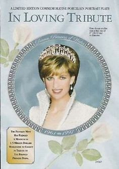 Princess Diana Portrait 1998 AD Franklin Mint