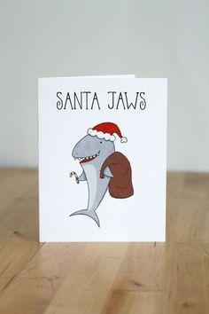 New Humor Christmas Gifts Holiday Cards Ideas Funny Christmas Puns, Diy Christmas Cards, Christmas Art, Holiday Cards, Funny Cards, Cute Cards, Pun Card, Christmas Illustration, Holiday Fun