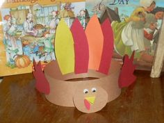 Thanksgiving Kids Crafts.  The two I really like are this headband and the cookie turkey treats.