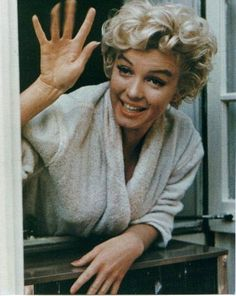 MARILYN MONROE (American actress, singer, model) - celebrity hand prints.  Reveal that she wasn't a dumb blonde after all.