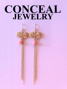 silver 18 carat gold plated earhooks with pink bamboo coral