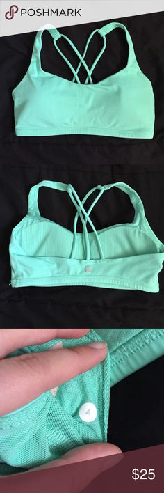 Free to Be Lululemon sports bra (mint green) Free to be bra from Lululemon. Size 4. Best for an a or b cup. Worn only a handful of times. lululemon athletica Intimates & Sleepwear Bras