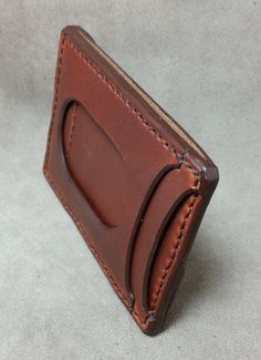 Image of I.D. Slot Minimalist Front Pocket Carry Leather Wallet